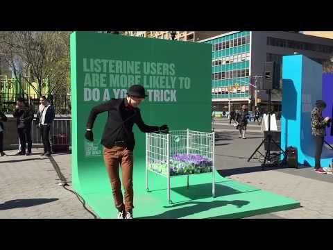 Cool backdrops - Listerine Experiential Marketing Event Activation - Union Square, New York City - YouTube