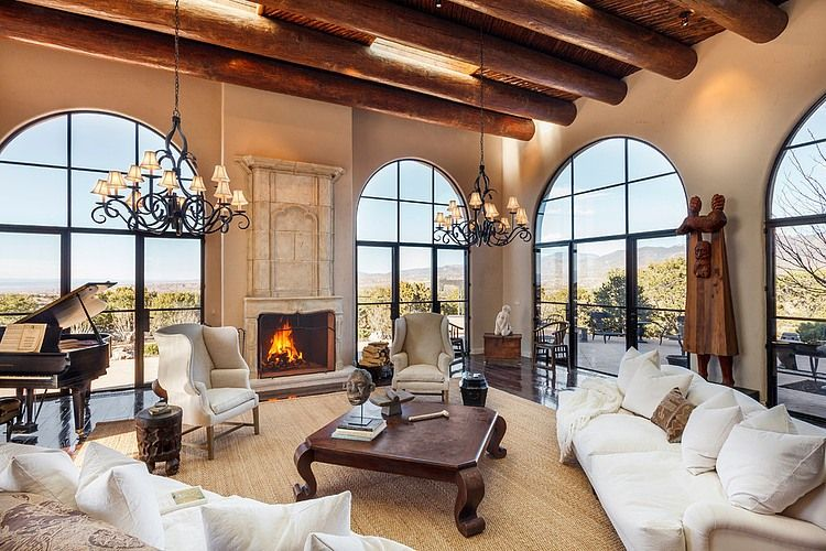 Santa Fe Opera By K M Skelly Homeadore Living Room Decor Rustic Mediterranean Living Rooms Farmhouse Style Furniture