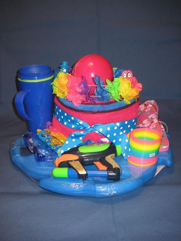 Kids Summer Gift Beach Towel Water Board Goggles Cup