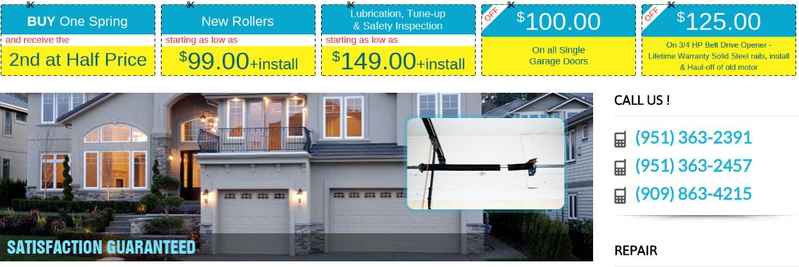 Get Lifetime Warranty On Garage Door Springs Repair Riverside