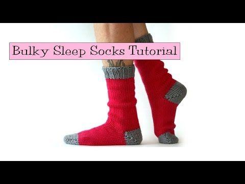 Bulky Sleep Socks Tutorial V E R Y P I N K C O M Knitting