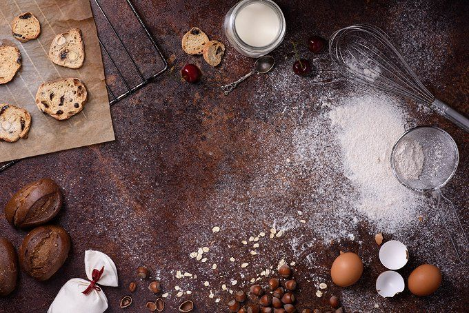 Bakery background frame