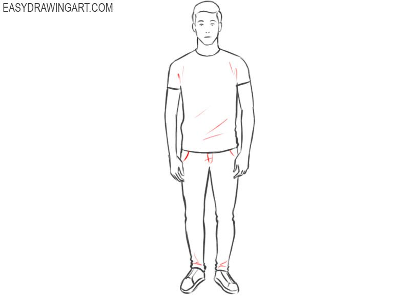 How To Draw A Guy Easy Drawing Art Drawing Tutorial Easy Easy Drawings Drawings