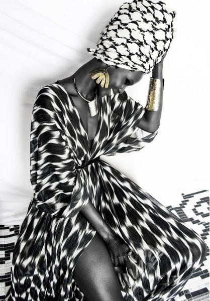 Boubou Kimono - Sokhna Black