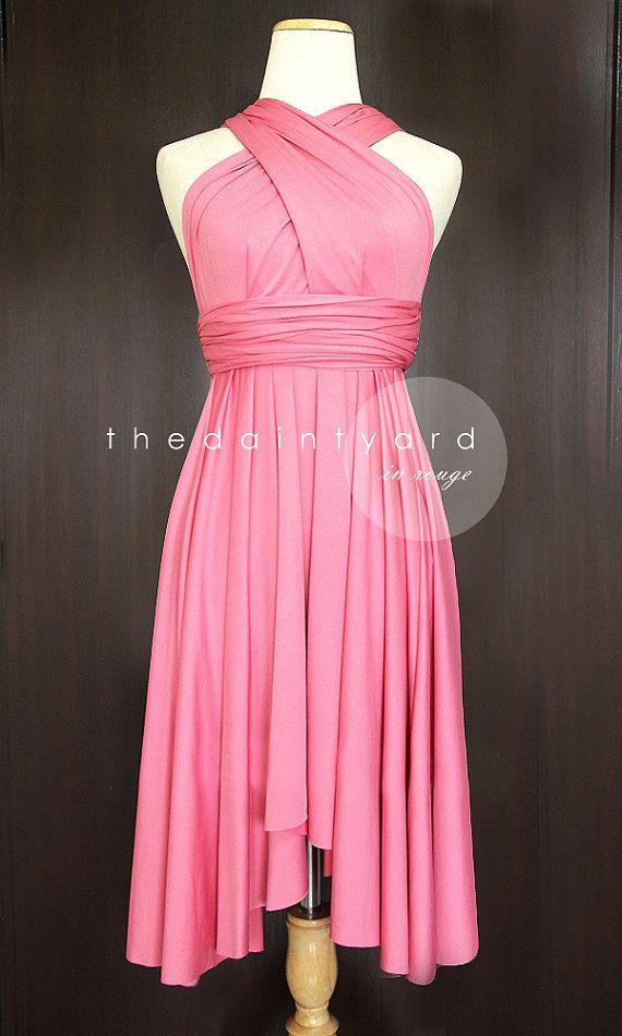 Rouge Bridesmaid Convertible Dress Infinity Dress Multiway Dress ...