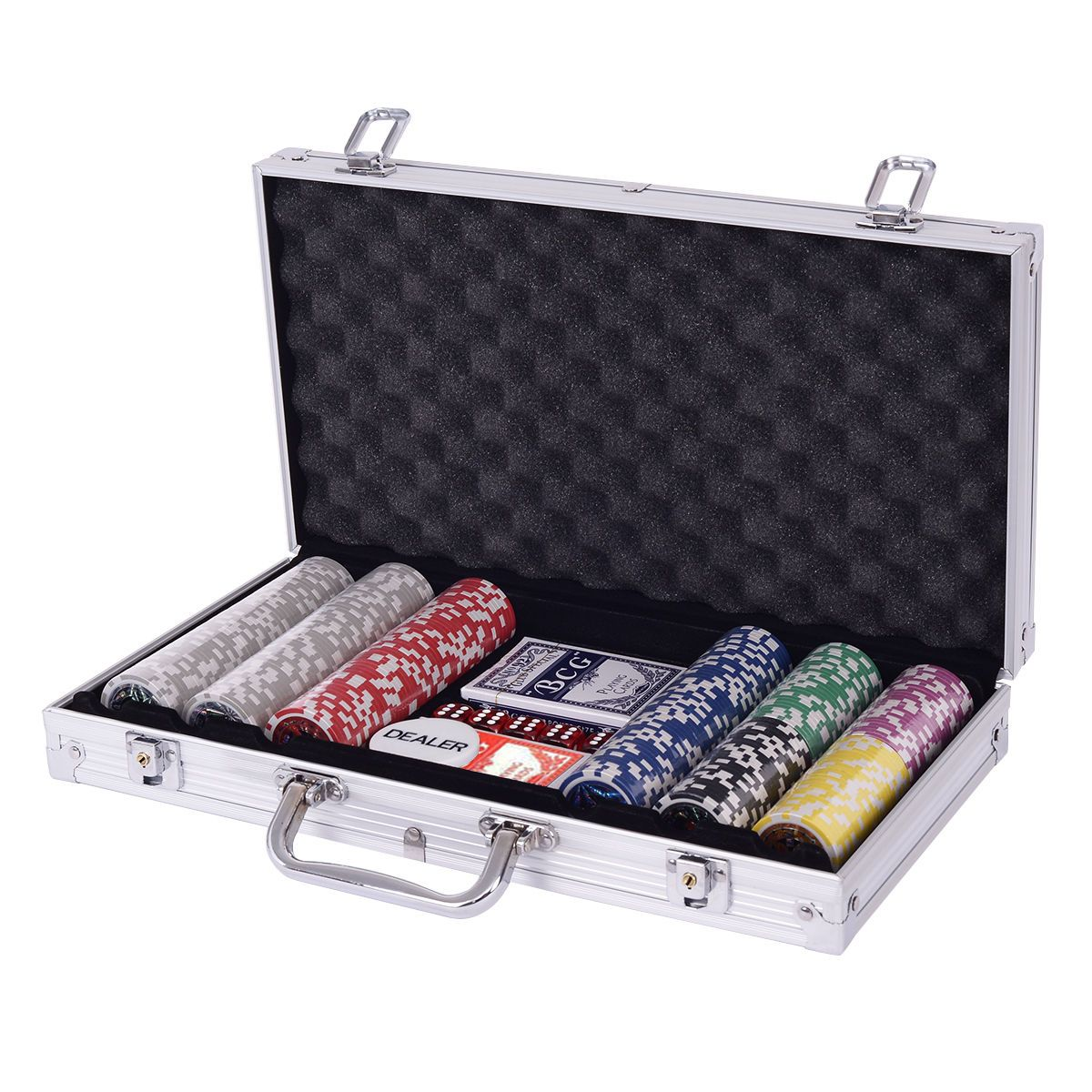 Poker Chip Set 300 Chips Texas Holdem Cards Poker chips