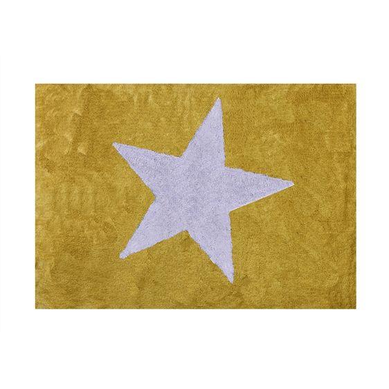 Es Alfombra Infantil Estrella Lavable En Lavadora Algodon En Blue