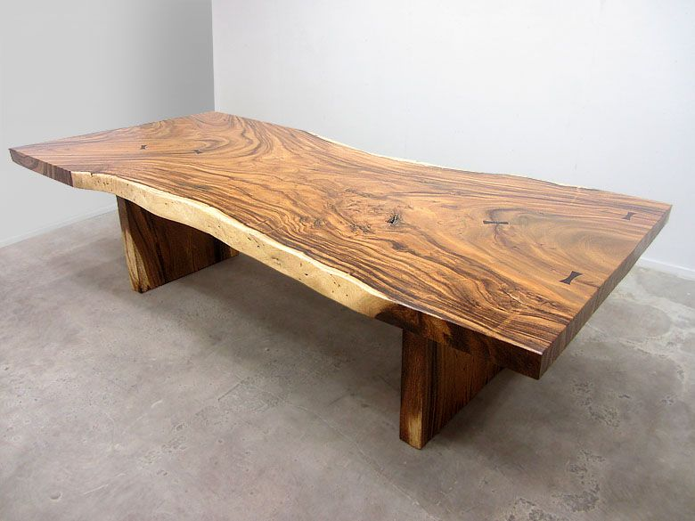 large natural edge/live edge acacia slab table, with indonesian