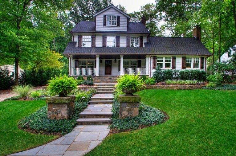 Traditional Home Entry Home Pinterest Front Yard Landscaping