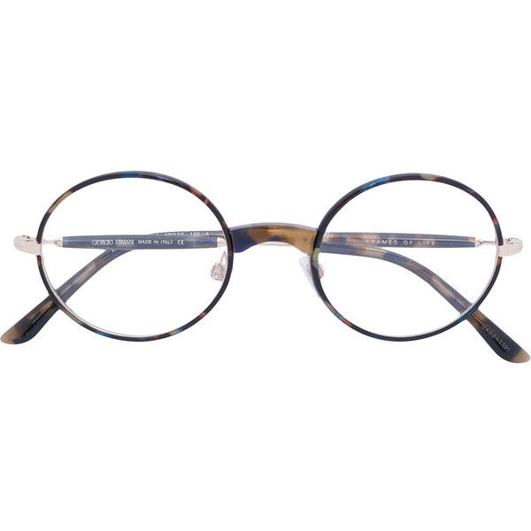 Giorgio Armani round frame glasses (20,840 INR) ❤ liked on Polyvore ...