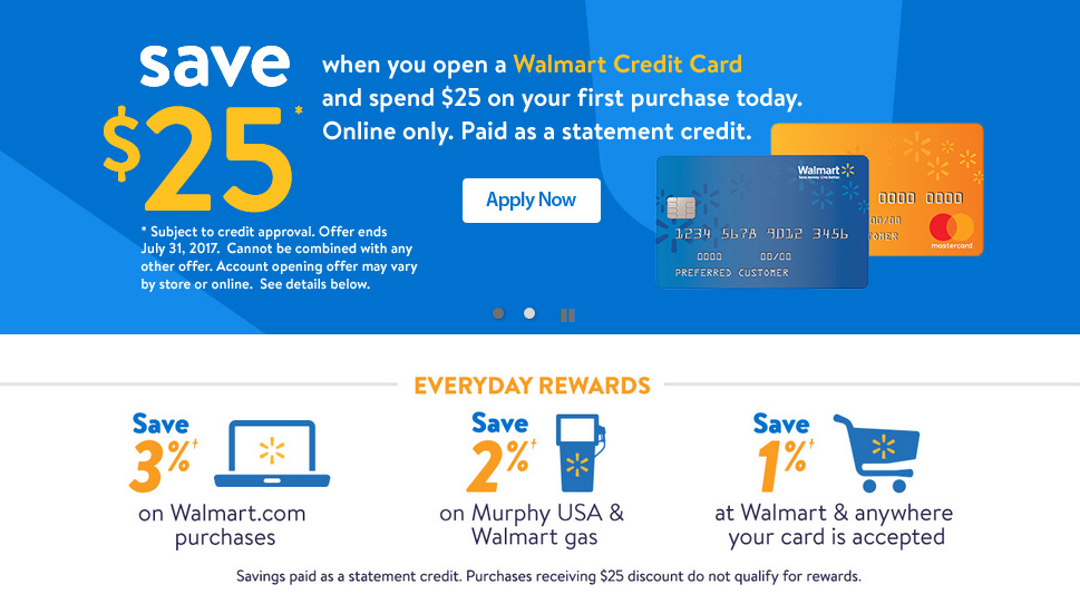 Apply For Walmart Credit Card Walmart Credit Card Payment