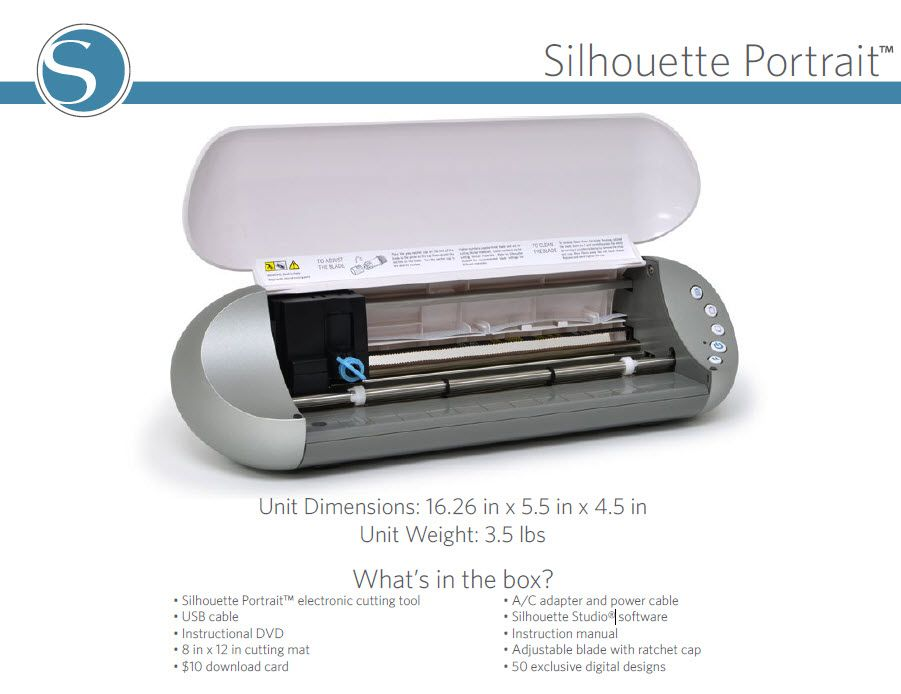 Silhouette Portrait™ electronic cutting tool