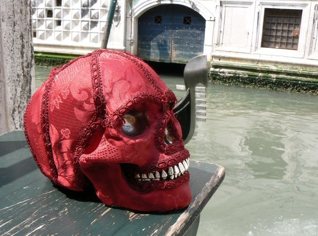 Ornament skull Damasco  Dogale Jewellery Venice Italia www.skulljewels.com