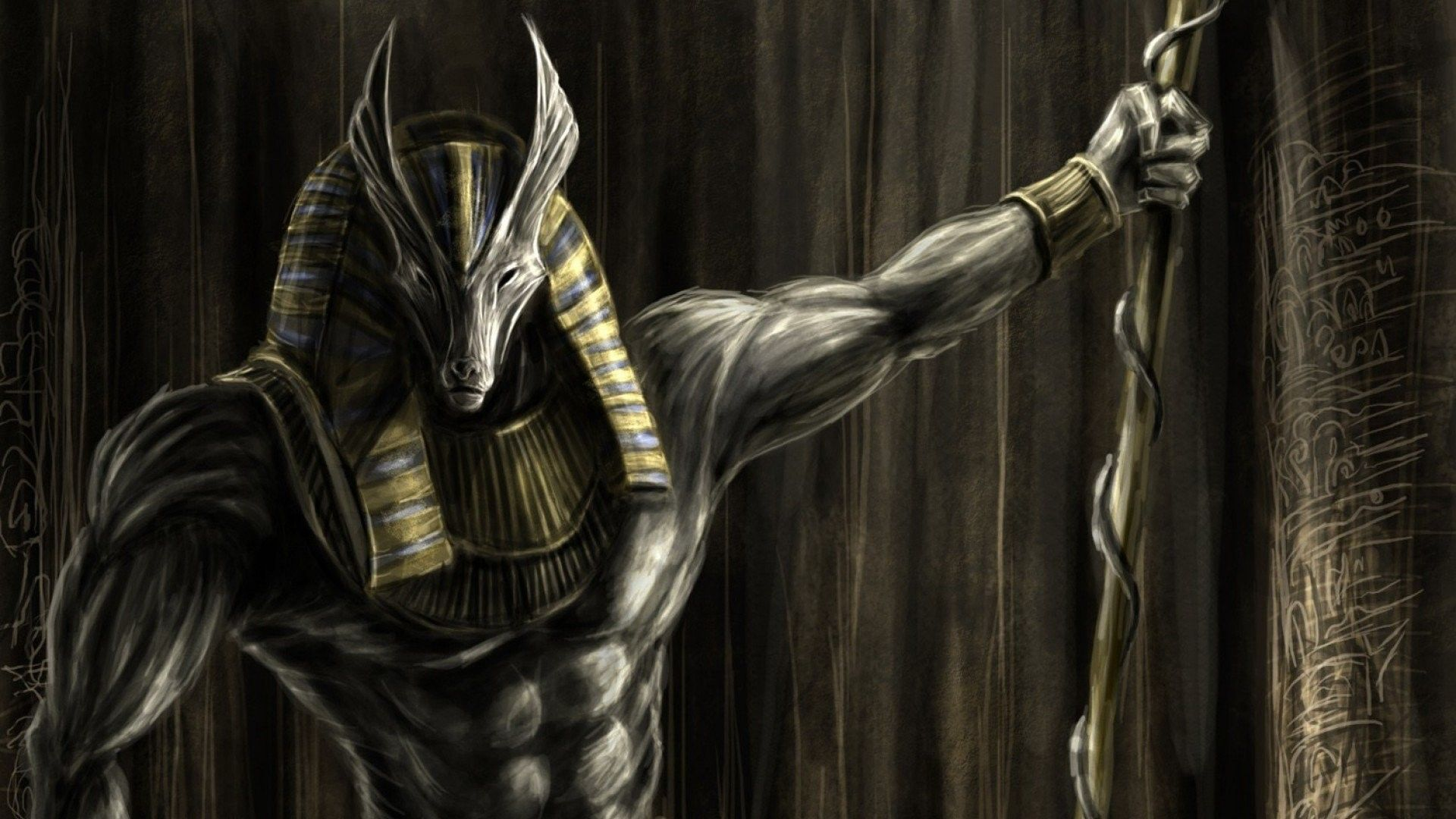 1920x1080 Anubys Egyptian God Of The Dead Wallpaper