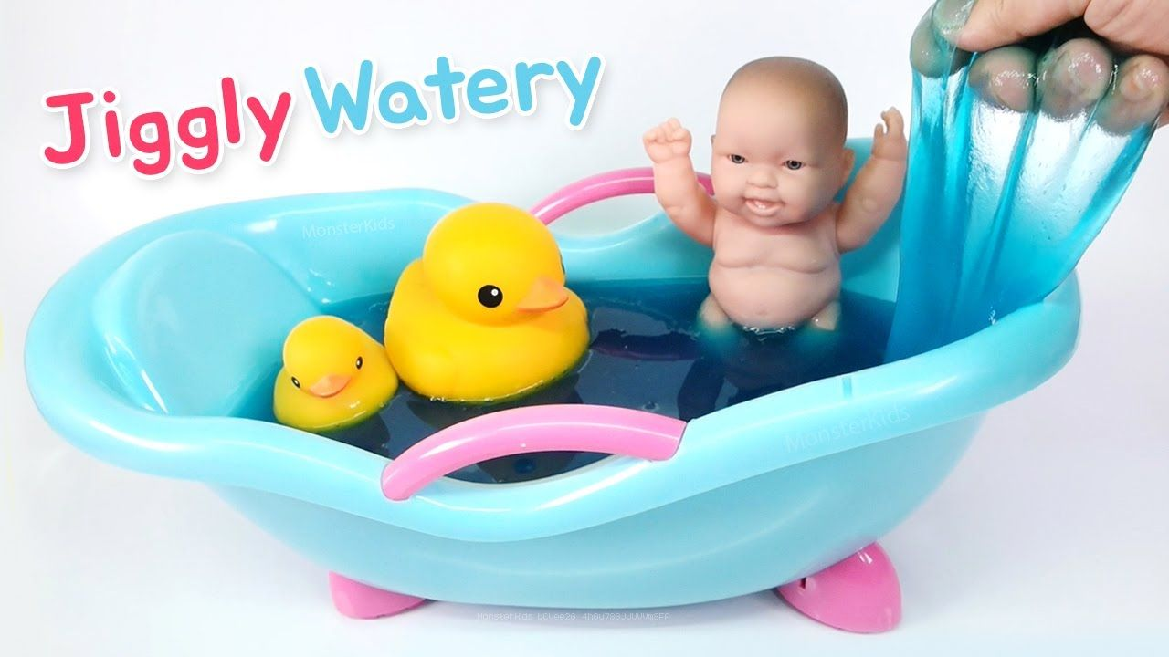 Diy giant watery jiggly slime super liquid slimewith baby doll diy giant watery jiggly slime super liquid slimewith baby doll bath ccuart Image collections
