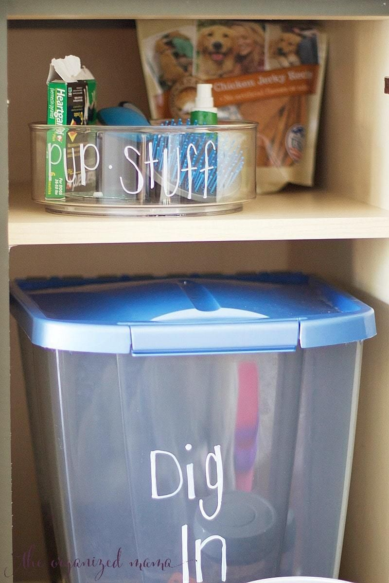 Easiest Ways To Organize Pet Supplies | Diy dog stuff | Pet