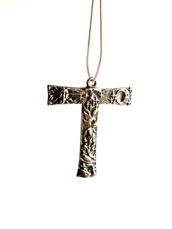 Franciscan tau cross sterling silver religious gift saint francis franciscan tau cross sterling silver by modernart999 on etsy mozeypictures Gallery