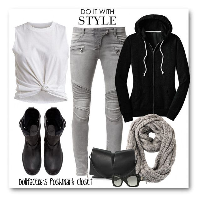 """""""Do it with Style"""" by stacyapark on Polyvore featuring Zara, Balmain, VILA, RE ENVY, Jil Sander and Versace"""