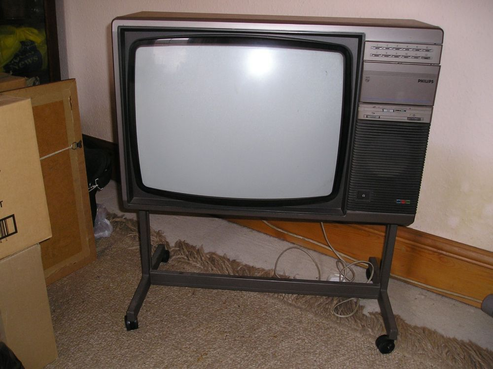 Vintage 1970s Philips Colour Tv With Stand Vintage Television