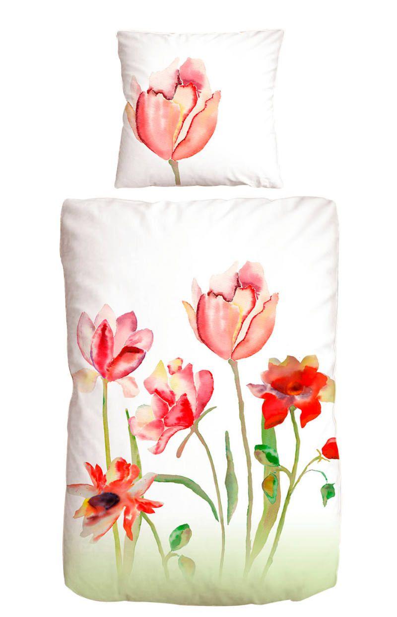 Zurbruggen Mako Satin Bw 135x200cm Tulip Bettwasche Weisse Bettwasche Satin Bettwasche