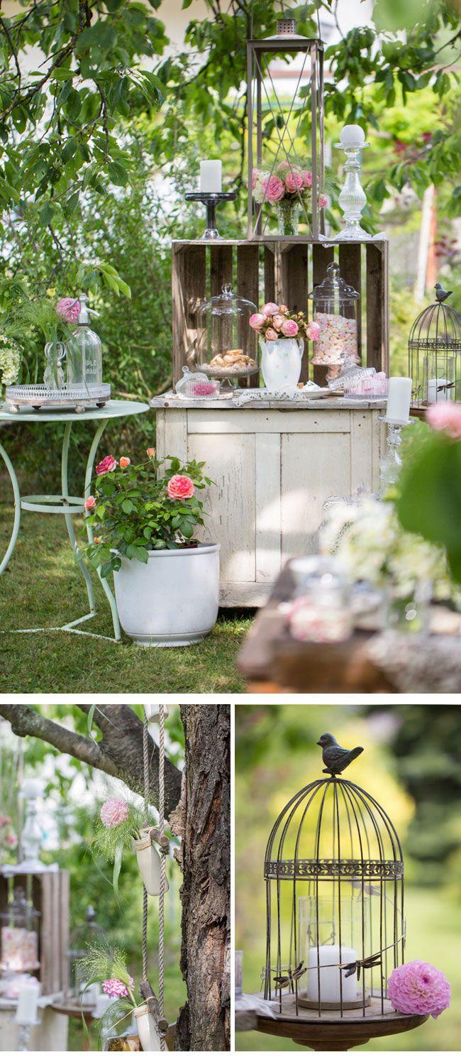 Vintage decoration idea deko raum photo dorelies hofer barn wedding yard wedding - Gartenfeier deko ...
