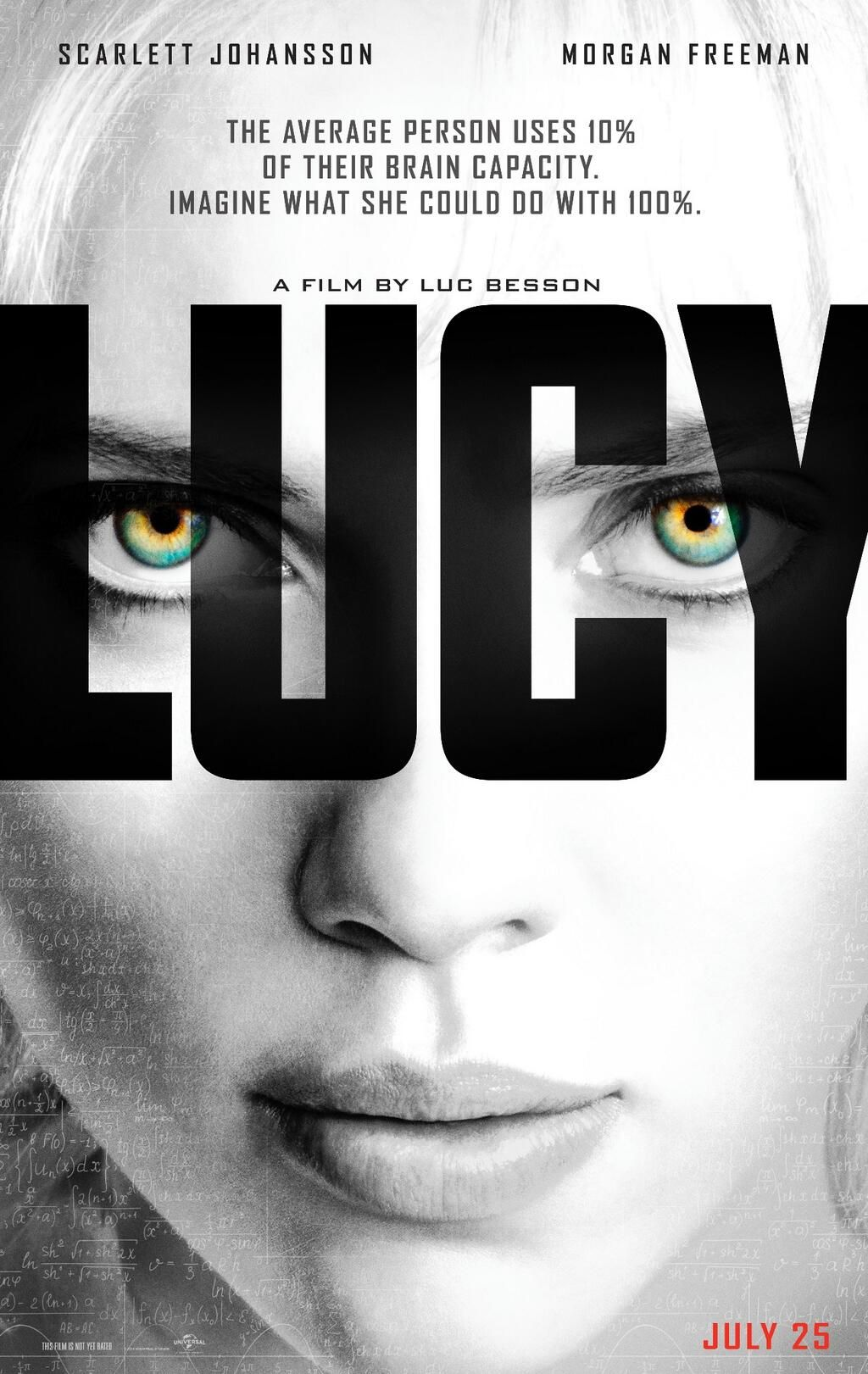 On July 25th, Lucy will show us what is possible at 100%. #LucyMovie pic.twitter.com/NqUjJvzvAd