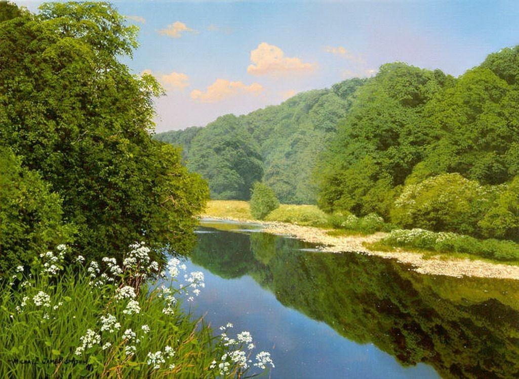Increibles Y Sorprendentes Pinturas De Verdes Paisajes Naturales Paisajes Pinturas Arte Paisajes