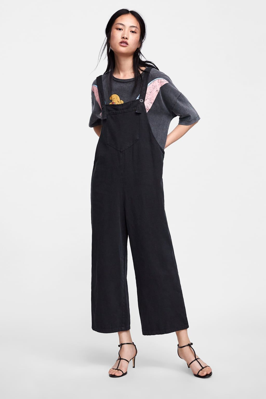 efce1f937449 Image 1 of OVERSIZED JUMPSUIT WITH STRAPS from Zara
