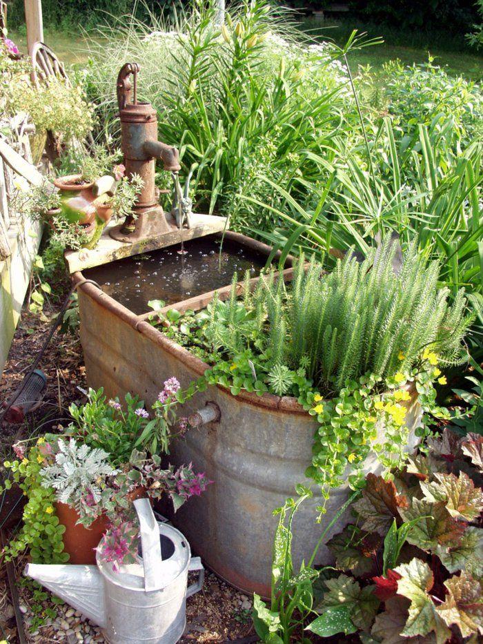 Deko Ideen Selbermachen Garten Pflanzen Alte Gegenstände Wiederverwenden