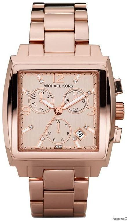 73d69a216bad Michael Kors MK5331 Watch Square Ladies - Brown Dial - Authentic someone  tell my hubby to buy it for my bday!