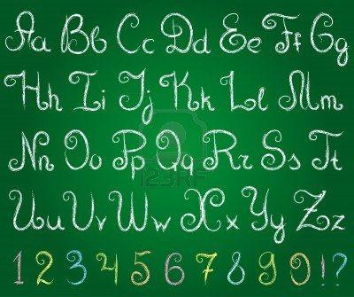 chalkboard font alphabet google search