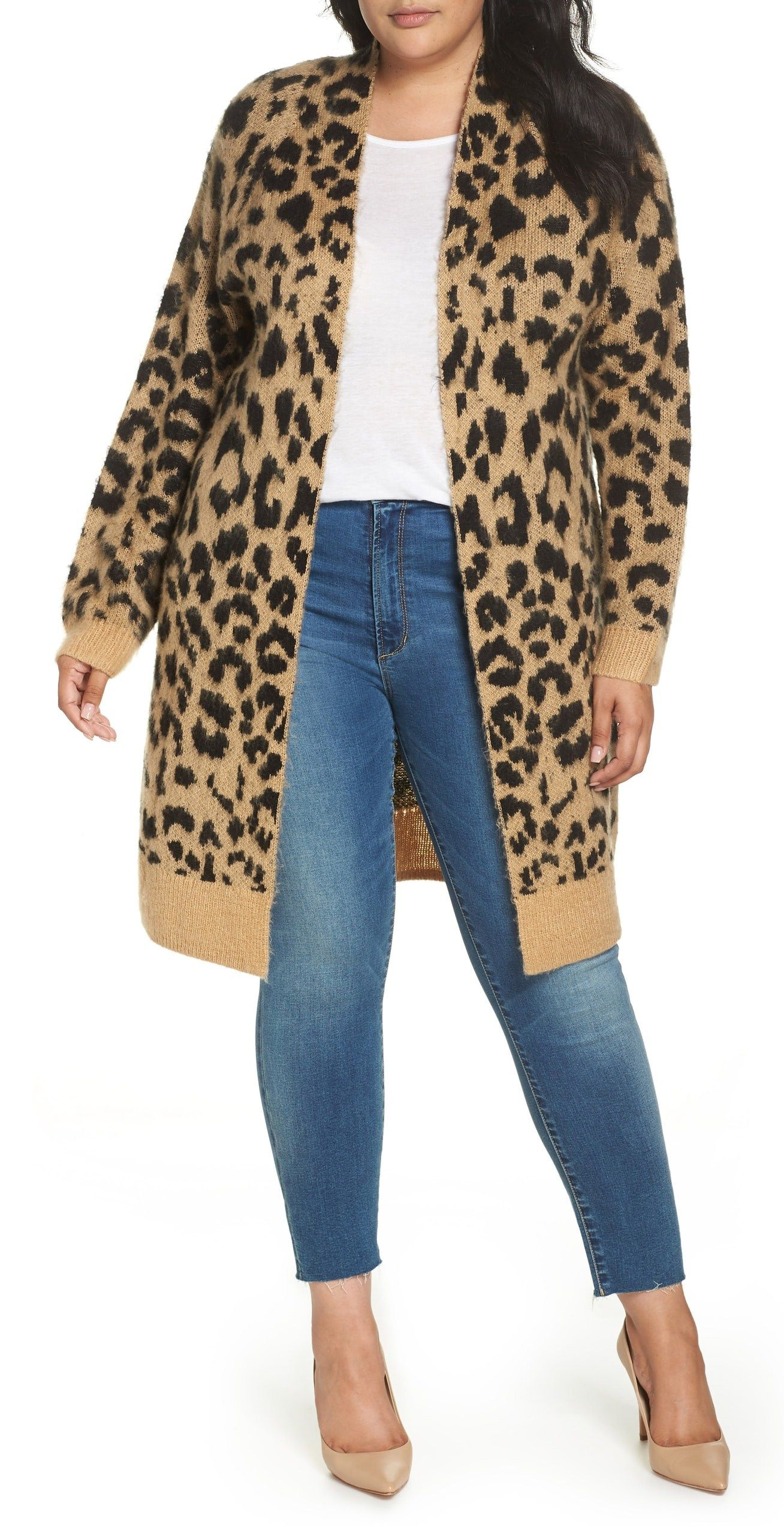 8763541bc3f91 Plus Size Leopard Cardigan Outfit Ideas - Plus Size Fall Outfits - Plus  Size Fashion for Women - alexawebb.com  alexawebb  plussize