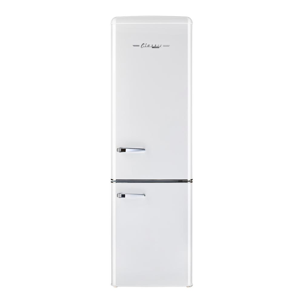 Unique Retro 21 6 In 9 Cu Ft Bottom Freezer Refrigerator In Marshmallow White Energy Star Ugp 275l W Ac The Home Depot In 2020 Bottom Freezer Bottom Freezer Refrigerator Retro Fridge