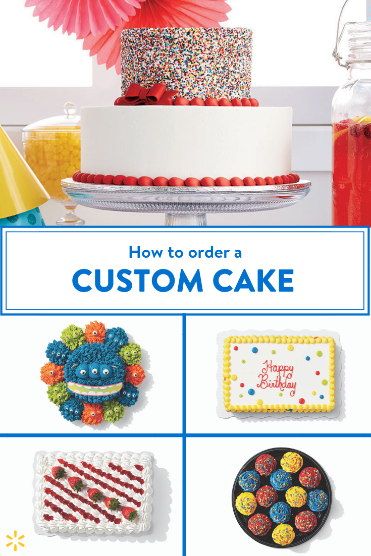 Astounding Cakes For Any Occasion Walmart Cake Designs Walmart Birthday Personalised Birthday Cards Veneteletsinfo