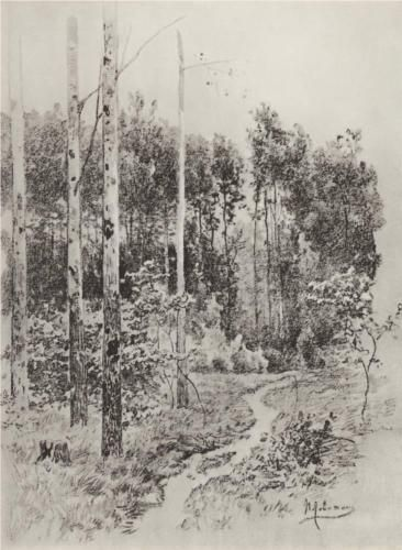 Path in the forest (1884) - Isaac Levitan