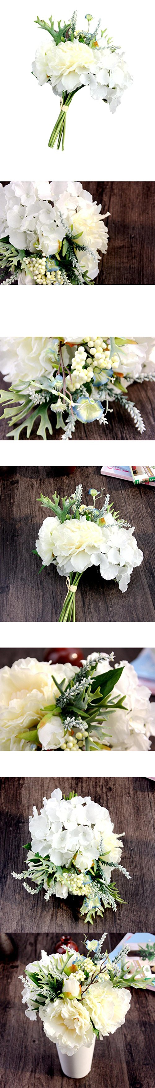 Fake flowersneartime silk leaf rose floral wedding bouquet party fake flowersneartime silk leaf rose floral wedding bouquet party home decor white izmirmasajfo