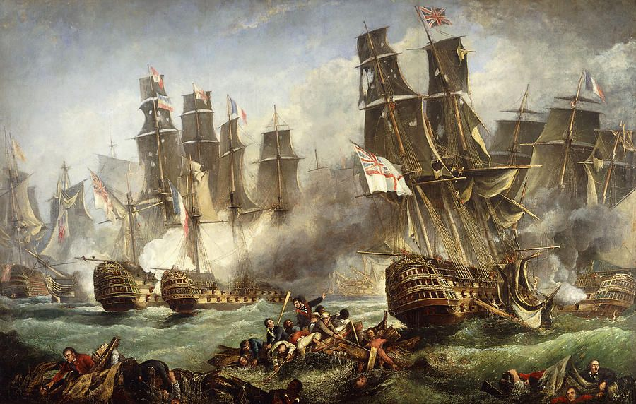 Pirate Battle Oil Painting Uk
