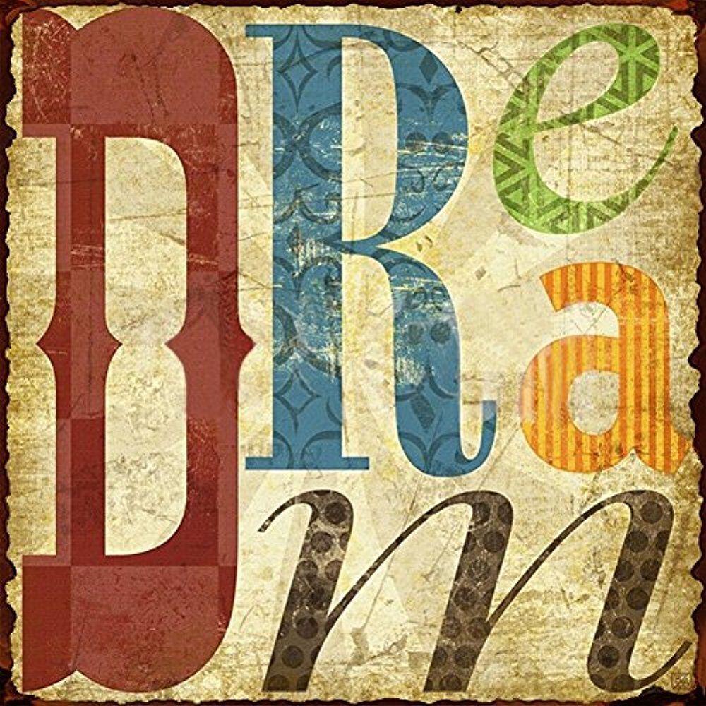 Barnyard designs colorful dream retro vintage tin bar sign country