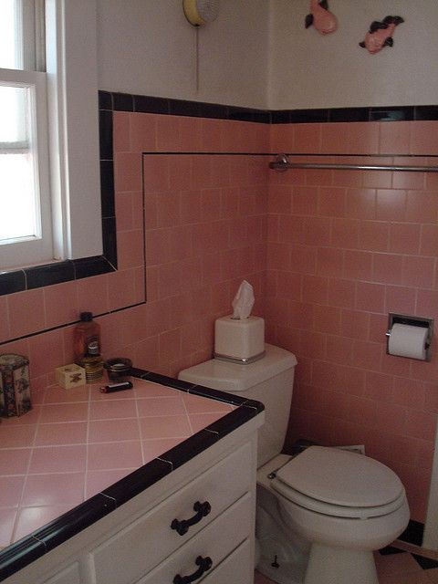 Dizzy In Pink With Images Pink Bathroom Tiles Retro Pink