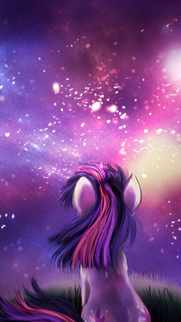 Starry Night with Twilight found on MLP Wallpaper for ...