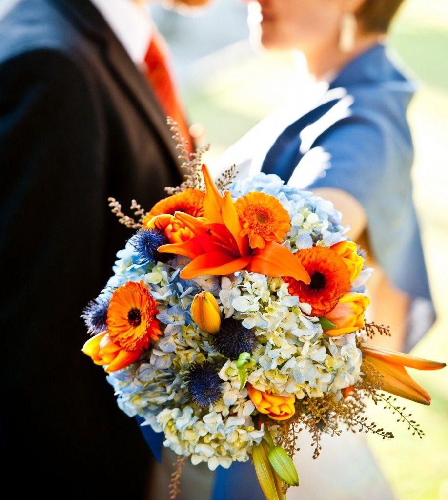 Orange Flower Arrangements For Weddings: Orange Wedding Flowers