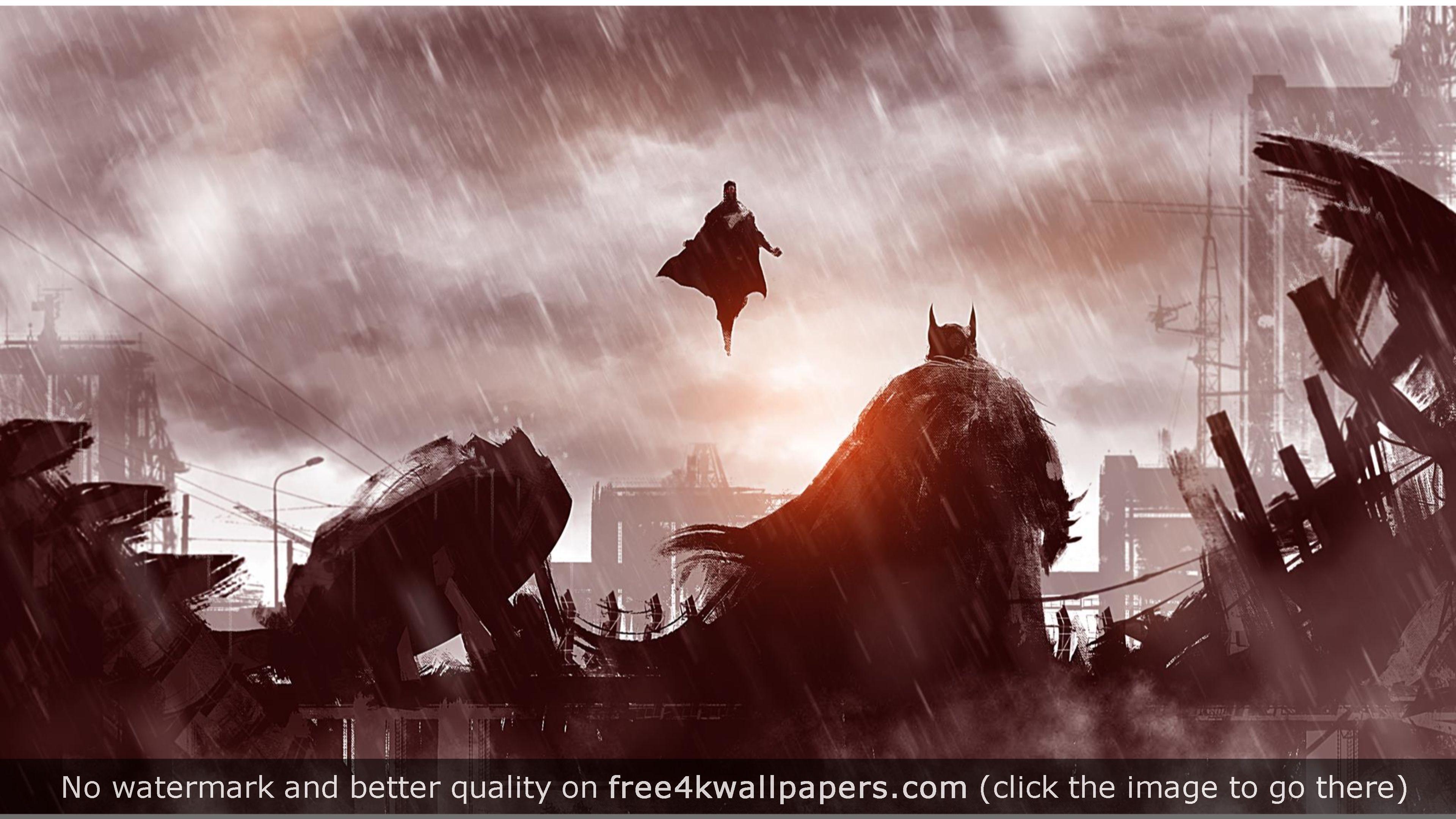 Creative Batman V Superman Movie 4K Wallpaper