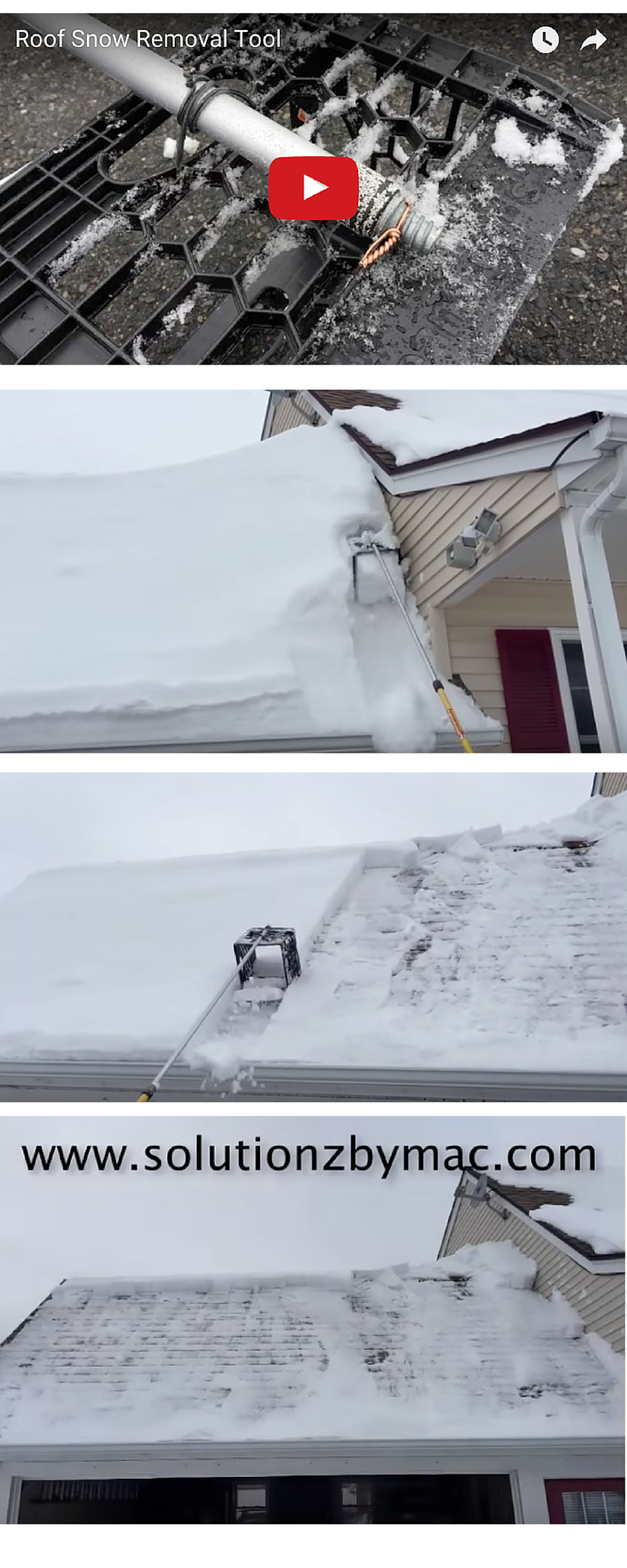 Best This Is A Home Made Roof Snow Removal Tool That Is Made 400 x 300