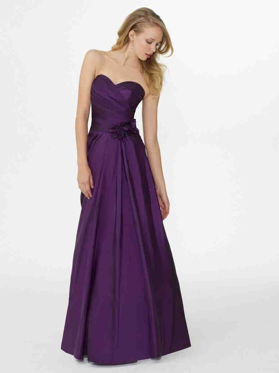 Cheap Purple Bridesmaid Dresses | purple satin | Pinterest
