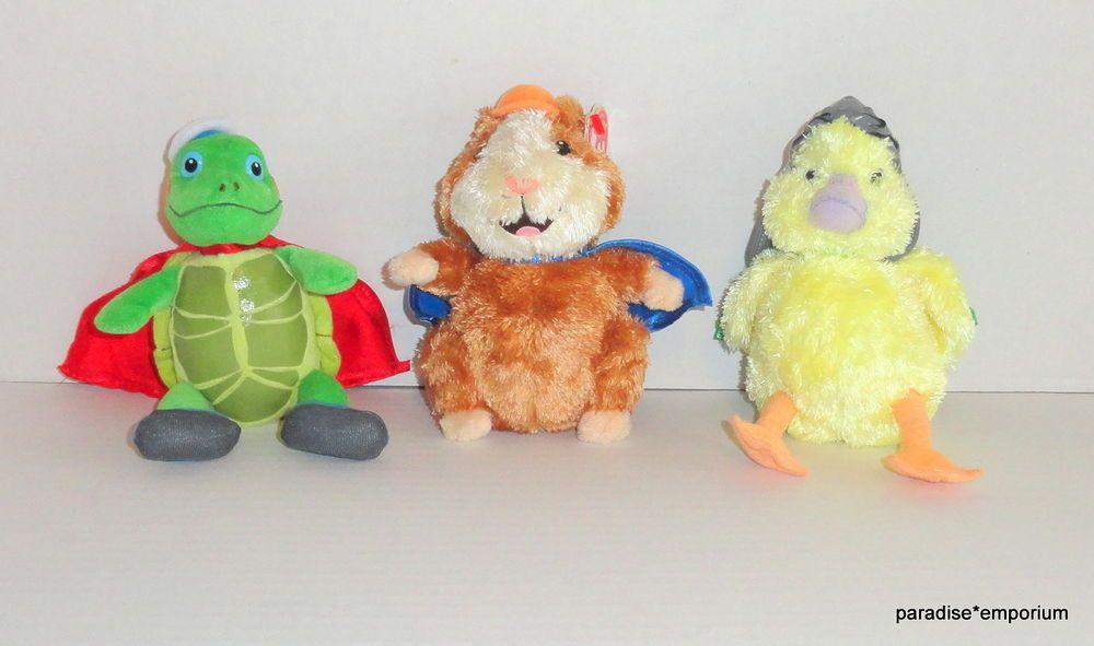 a2e0c636194 TY Beanie Babies Wonder Pets Plush Set Lot Linny Tuck Ming Ming P55   wonderpets  toys