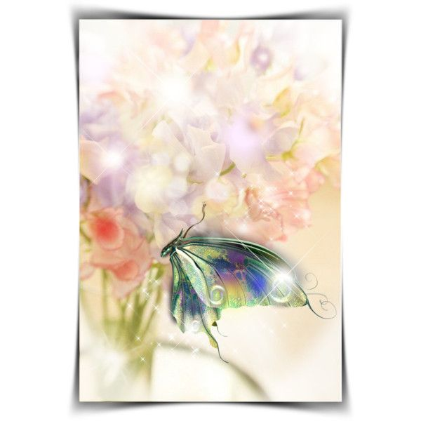 BUTTERFLY by kiki-parker on Polyvore featuring art, Flowers, butterfly and artset