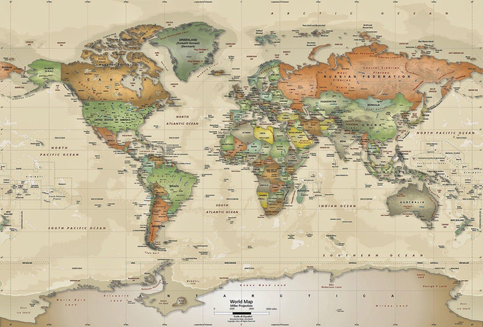 World Map Wallpaper Murals Wallpaper HD Wallpapers Pinterest - United states wallpaper map