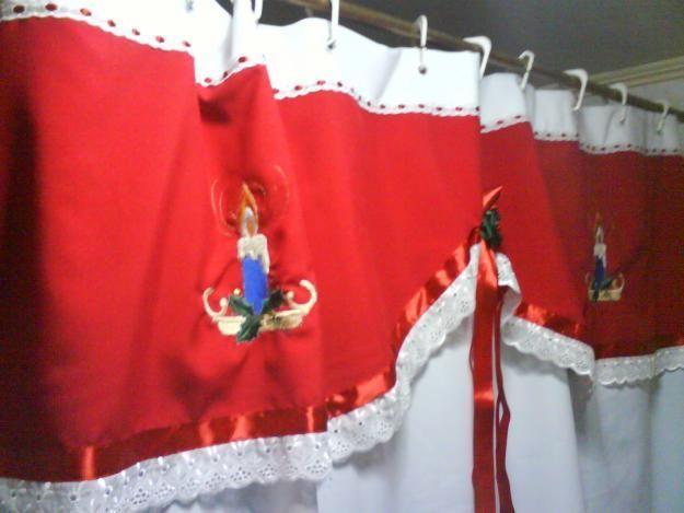 cortinas de bao con motivos navideos