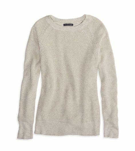 Quaker Heather AEO Factory Shimmery Crew Sweater | Wish List ...