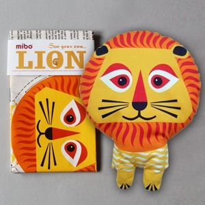 sew your own lion kit. designed by madeleine rogers.